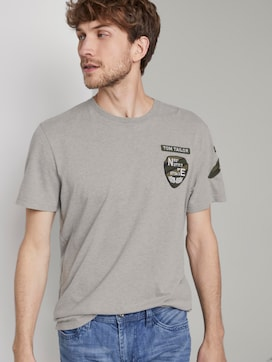 T-Shirt with badge details - 5 - TOM TAILOR