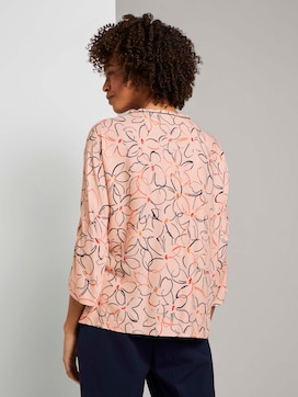 Fledermaus-Bluse mit Blumenprint - 2 - Mine to five