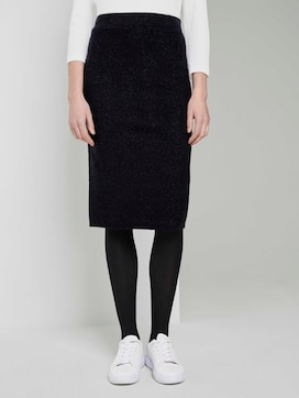 midi skirt made of knit - 1 - TOM TAILOR