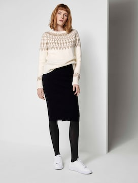 midi skirt made of knit - 3 - TOM TAILOR