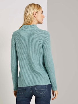Sweater with a stand-up collar and raglan sleeves - 2 - TOM TAILOR