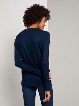Fließendes Shirt mit Ripp-Bündchen - 2 - Tom Tailor E-Shop Kollektion