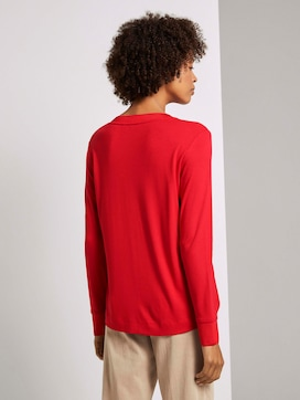 Flowing shirt with ribbed cuffs - 2 - Tom Tailor E-Shop Kollektion