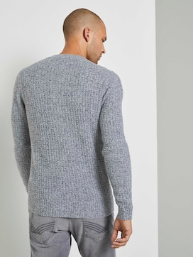 Textured sweater with wool content - 2 - TOM TAILOR