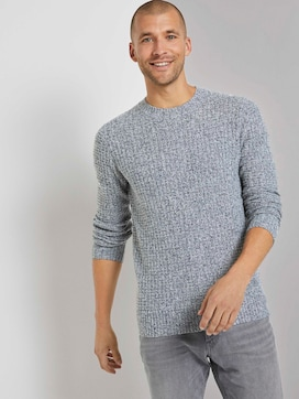 Textured sweater with wool content - 5 - TOM TAILOR