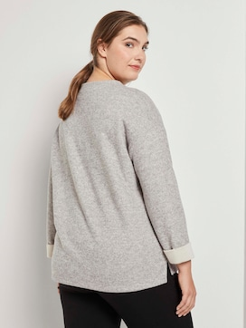Mottled sweatshirt with a stand-up collar - 2 - My True Me