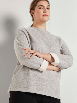 Mottled sweatshirt with a stand-up collar - 5 - My True Me
