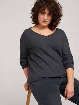Gebreide trui met getextureerde afwerking - 5 - Tom Tailor E-Shop Kollektion
