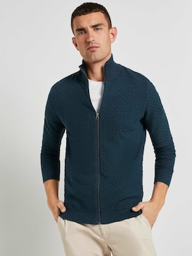 Strukturierte Mouline Strickjacke - 5 - TOM TAILOR