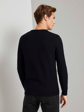Textured knitted sweater - 2 - TOM TAILOR
