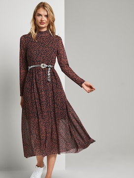 Midi dress with a floral print - 5 - TOM TAILOR Denim