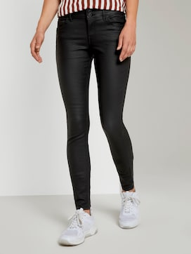 Jona Extra Skinny Jeans in Lederoptik - 1 - TOM TAILOR Denim