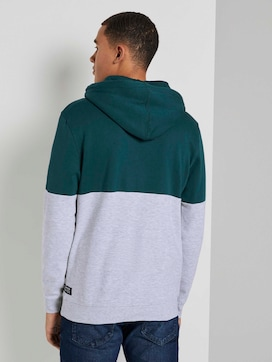 Hoodie mit Blockstreifen - 2 - TOM TAILOR Denim