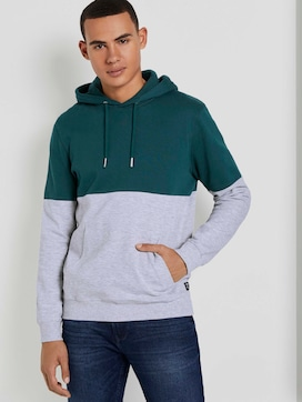 Hoodie mit Blockstreifen - 5 - TOM TAILOR Denim
