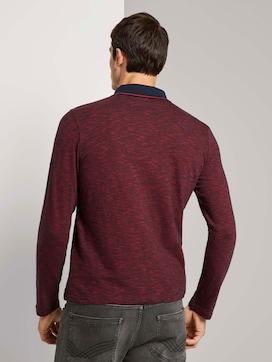 Poloshirt met lange mouwen en gestreepte textuur - 2 - TOM TAILOR