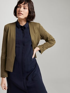 Collarless jersey blazer  - 5 - Mine to five