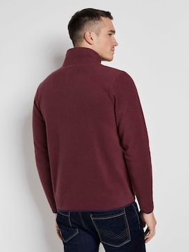 Fleece jacket with a stand-up collar - 2 - TOM TAILOR