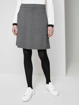 Finely patterned mini skirt - 1 - TOM TAILOR