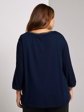 3/4-sleeved shirt in a mix of materials - 2 - My True Me