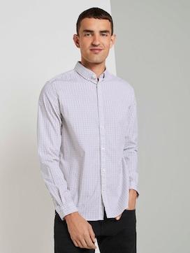 Slim fit overhemd met tekening - 5 - TOM TAILOR