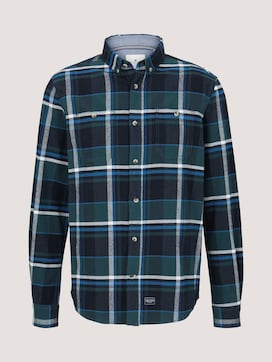 Checked shirt with chest pockets - 7 - TOM TAILOR