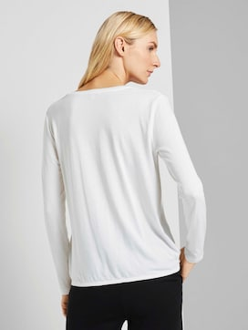 Langarmshirt im Materialmix - 2 - TOM TAILOR