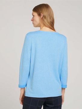 Sweatshirt met gemêleerde binnenkant - 2 - TOM TAILOR
