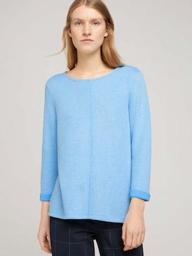 Sweatshirt met gemêleerde binnenkant - 5 - TOM TAILOR