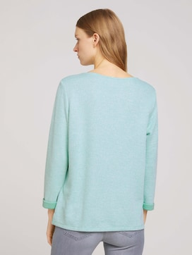 Sweatshirt with a mottled inner side - 2 - TOM TAILOR