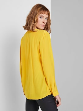 Blouse with ruffle details - 2 - TOM TAILOR