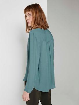 Stehkragen Bluse mit Rüschendetail - 2 - TOM TAILOR