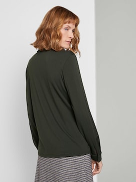 Blouse top with a chest pocket - 2 - TOM TAILOR