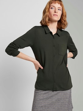Blouse top with a chest pocket - 5 - TOM TAILOR