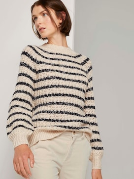 Turtleneck sweater in a striped pattern - 5 - TOM TAILOR Denim