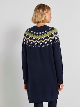 Mini knit-dress with a Shetland print - 2 - TOM TAILOR Denim