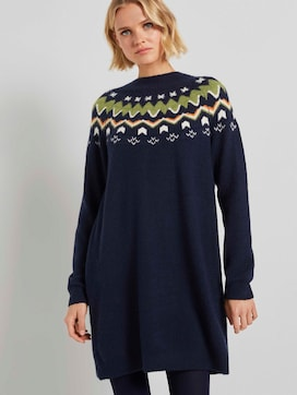 Mini knit-dress with a Shetland print - 5 - TOM TAILOR Denim