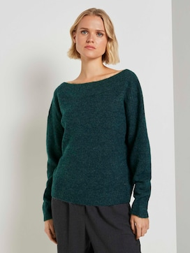 Schulterfreier Strickpullover - 2 - TOM TAILOR Denim