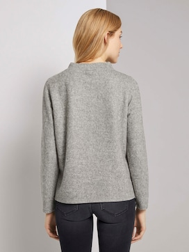 Mottled sweatshirt with a stand-up collar - 2 - TOM TAILOR