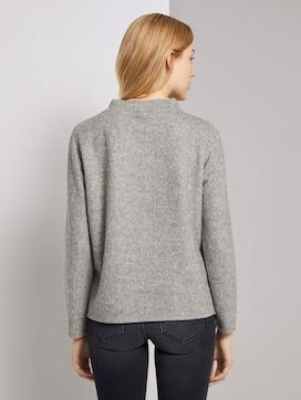 Meliertes Sweatshirt mit Stehkragen - 2 - TOM TAILOR