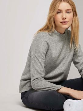 Meliertes Sweatshirt mit Stehkragen - 5 - TOM TAILOR