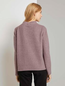 Gevlekt sweatshirt met opstaande kraag - 2 - TOM TAILOR