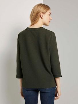 Stehkragen-Sweatshirt mit Knopfdetail - 2 - TOM TAILOR