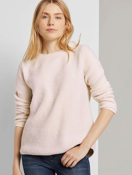Soft teddy sweatshirt - 5 - TOM TAILOR