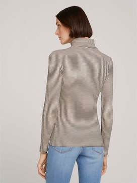 Gestreepte Top met coltrui - 2 - TOM TAILOR Denim
