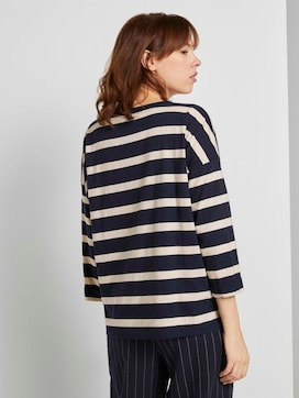 Loose striped shirt with embroidery - 2 - TOM TAILOR Denim
