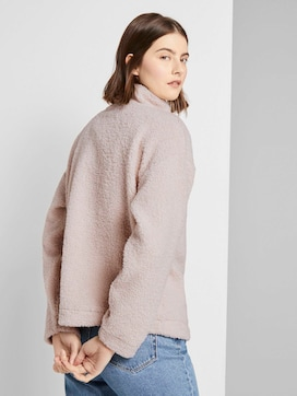 Teddy Troyer-Pullover mit Knopfleiste - 2 - TOM TAILOR Denim