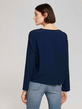 Loose blouse with a button tab - 2 - TOM TAILOR Denim