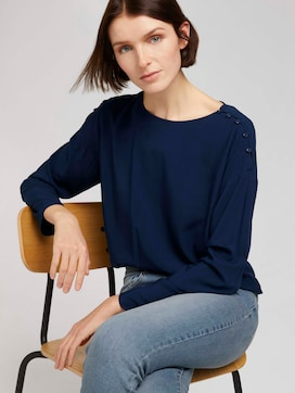 Loose blouse with a button tab - 5 - TOM TAILOR Denim