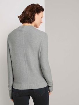 Knitted sweater with an ottoman structure - 2 - TOM TAILOR