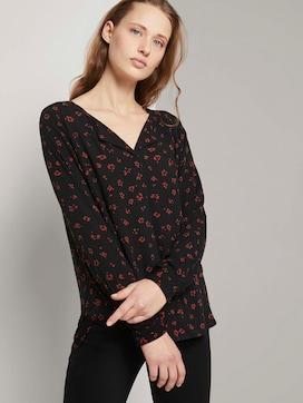 Patterned blouse with a V-neckline - 5 - TOM TAILOR Denim